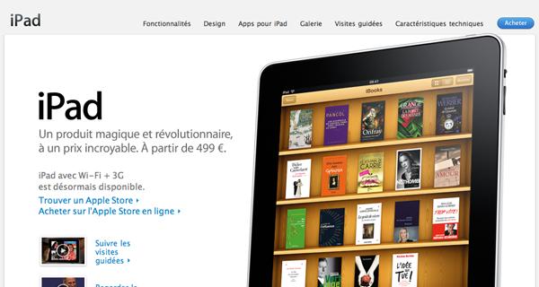 [News] iPad. Disponible dès aujourd'hui.