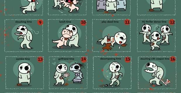 [Image] Dure, la vie de zombie.