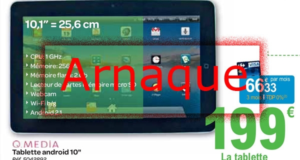 Q.Media Android 10″ une tablette arnaque !