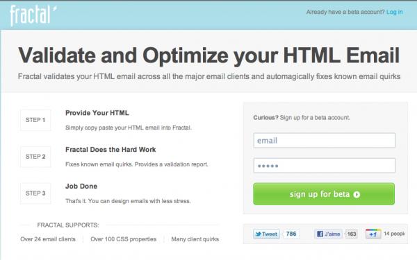 Fractal, valider et optimisez vos newsletter Html