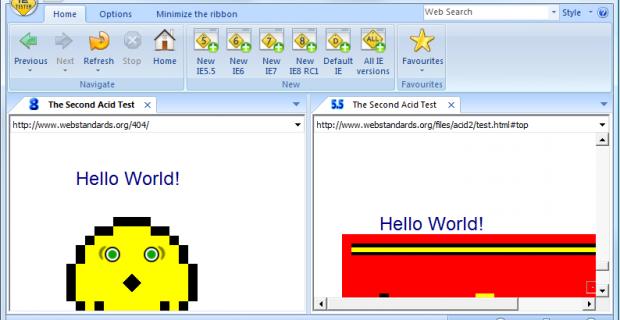 [Software] IE Tester, toutes les versions d'Internet Explorer dans un seul soft