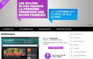 Geeksleague au Golden Blog Awards, dernière ligne droite !