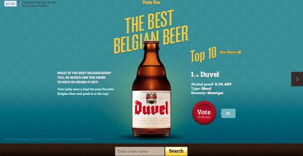 Thebestbelgianbeer.com, votez pour votre bière préférée !