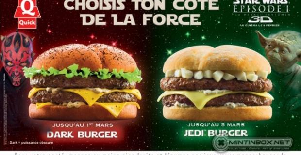 Star Wars Burger, les belges ont peur du coté obscur de la force