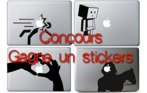 Gagne un Stickers pour ton mac ou ton Iphone du site www.santa-pi.com