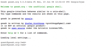 [Web] Goosh.org