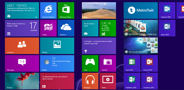 Windows 8…. mais pas totalement