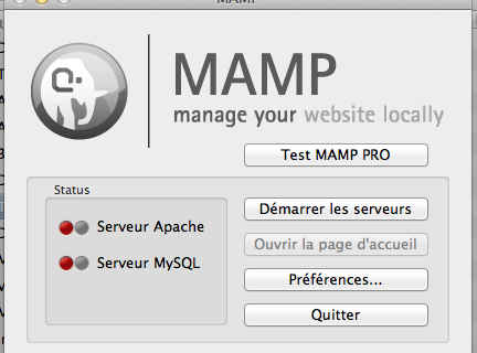 Mamp : MySQL ne démarre pas