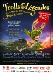 Affiche du festival Trolls & Légendes 2013