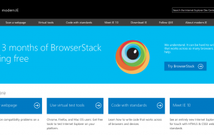 modern.ie, des outils fournis par Microsoft pour les développeurs web.
