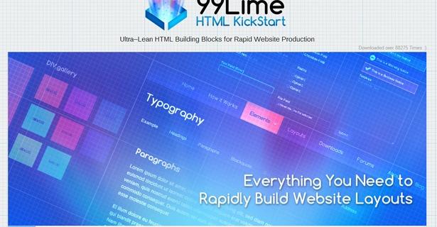 HTML KickStart master, un Framework Html 5 CSS 3 simple à prendre en main