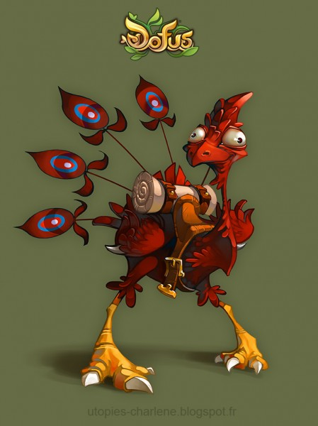 dofus_feathered_dragoturkey_by_catell_ruz-d50045o