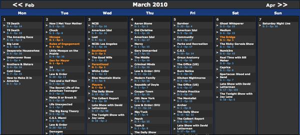 [Série TV] Le calendrier ultime.