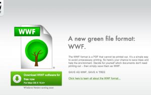 [EcoloGeek] .WWF, le format de fichier green.