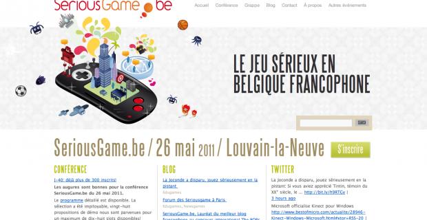 [Web] Seriousgame.be, le jeu sérieux en Belgique francophone.