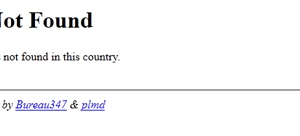 Erreur 404 Government Not Found