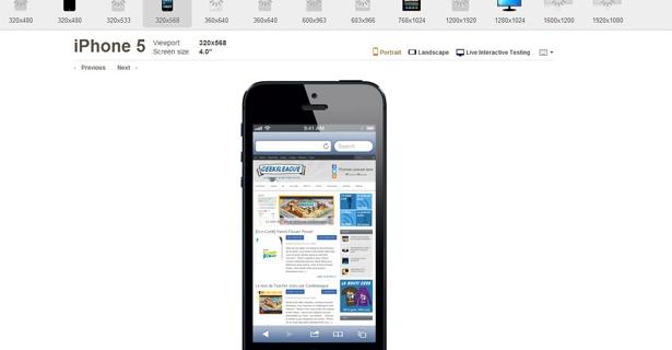 Testez votre site responsive sur tous les smartphones et tablettes